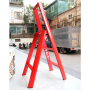 Thang nhôm Đài Loan 3 bậc ADVINDEQ AV303 (red)