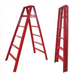Thang nhôm chữ A Đài Loan 12 bậc Advindeq AV306 (Red)