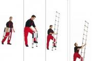 Hướng dẫn sử dụng thang nhôm rút gọn đơn an toàn
