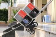 Xe đẩy hàng leo cầu thang nào dành cho siêu thị?