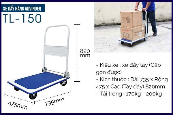 Xe đẩy ADVINDEQ TL-150 có tải trọng 170kg - 200kg